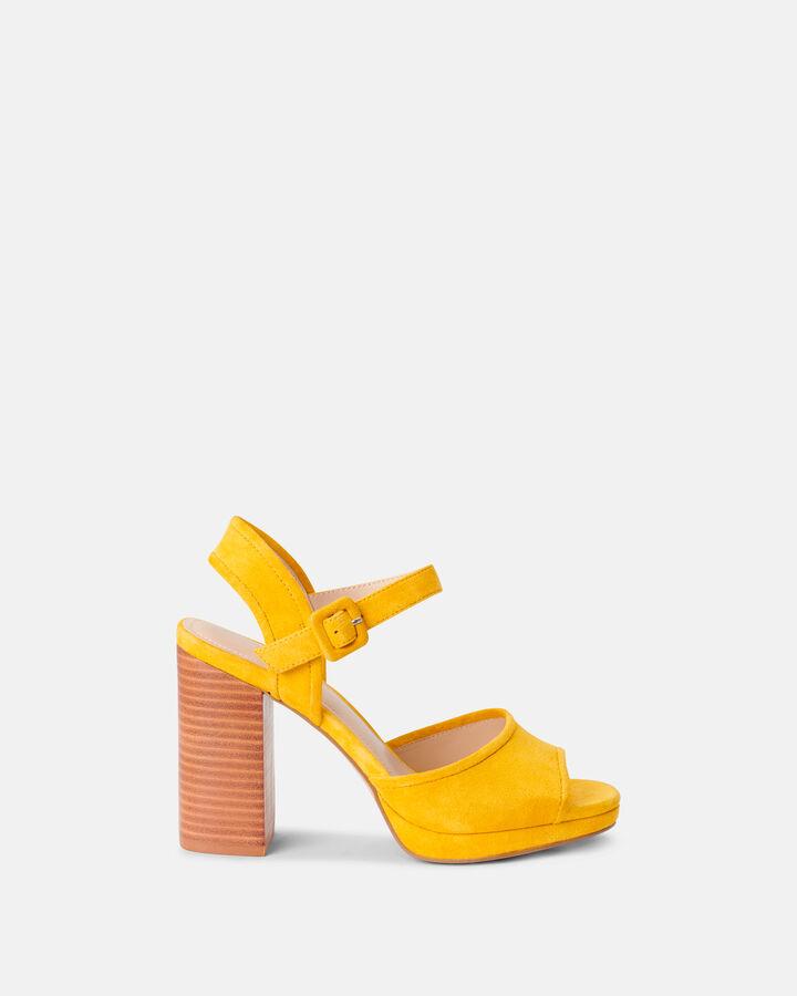 Sandale à talon - Cilema, JAUNE