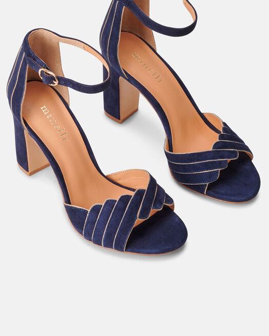 Sandale à talon - Barbel, MARINE
