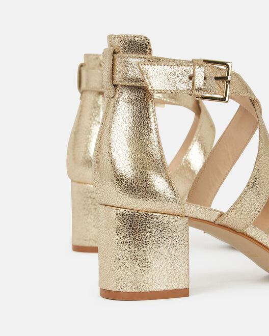 Sandale à talon - Barbro, PLATINE