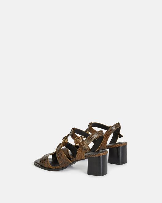 Sandale à talon - Thanita, KAKI