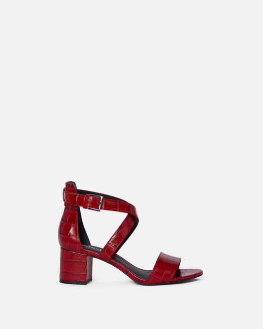 Sandale à talon - Chanez, ROUGE