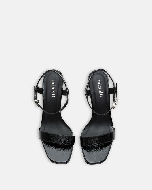 Sandale à talon - Tahissia, NOIR