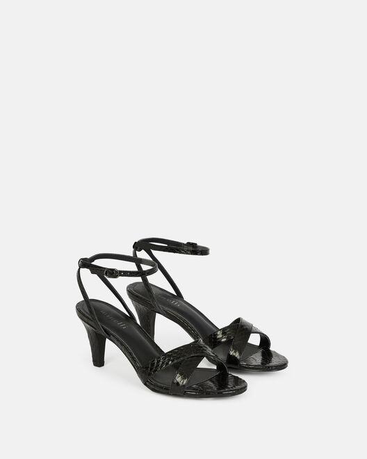 Sandale à talon - Chelsie, NOIR