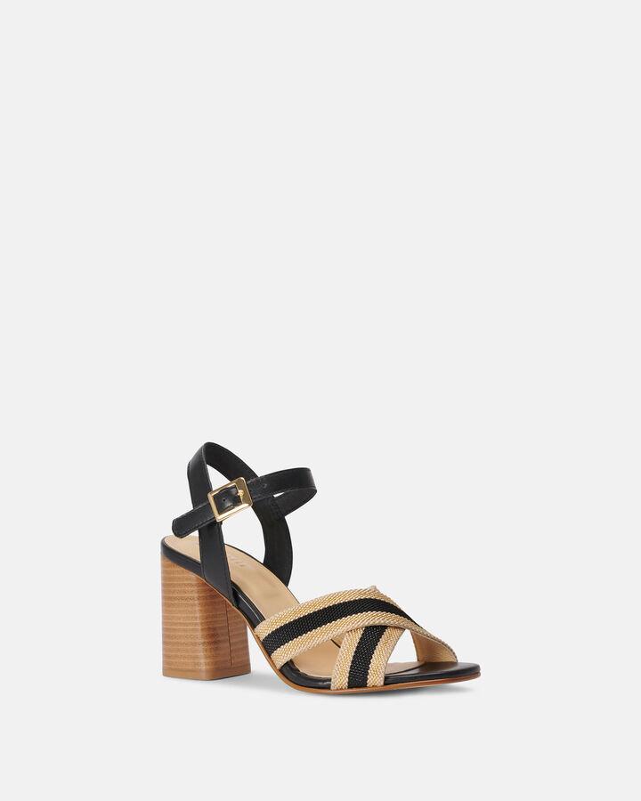 Sandale à talon - Coral, NOIR