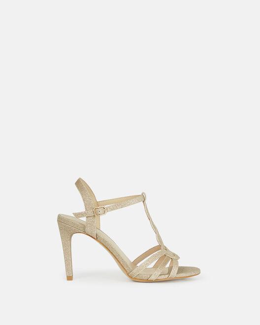 Sandale à talon - Chada, PLATINE