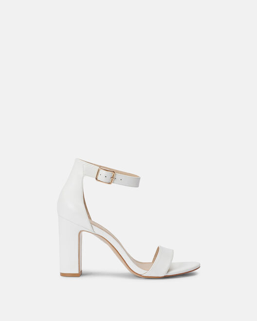 Sandale à talon - Benja, BLANC
