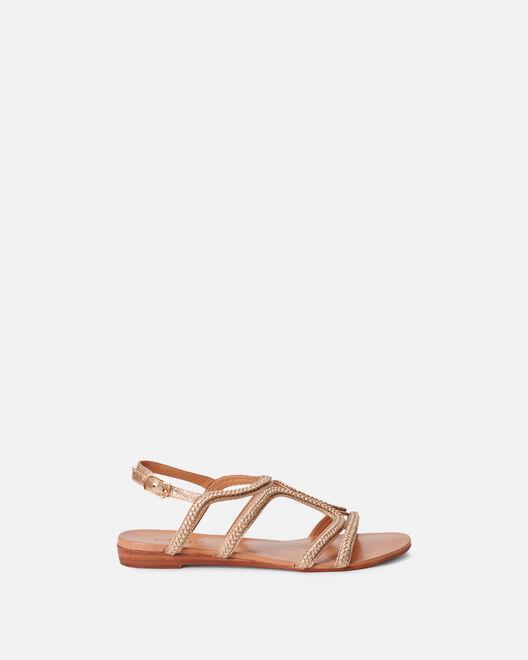 Sandale plate - Merriel, PLATINE