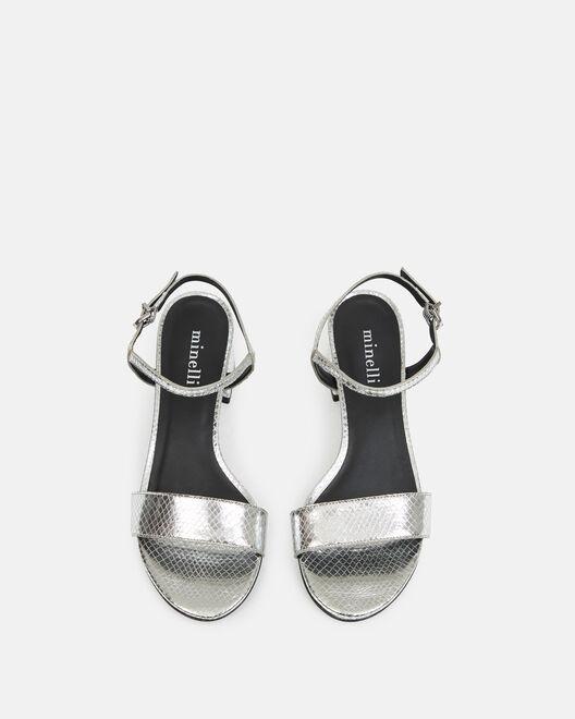 Sandale à talon - Naissah, ARGENT