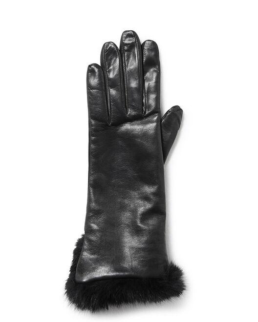 Gants femme   gants en cuir femme - Minelli f584601a92f