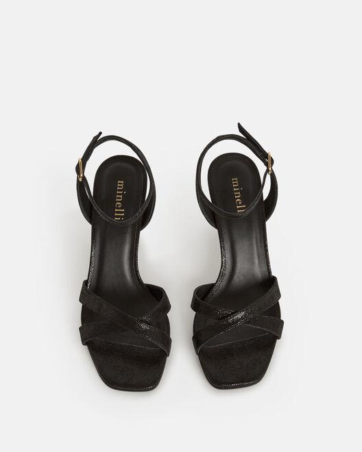 Sandale à talon - Thiphannie, NOIR