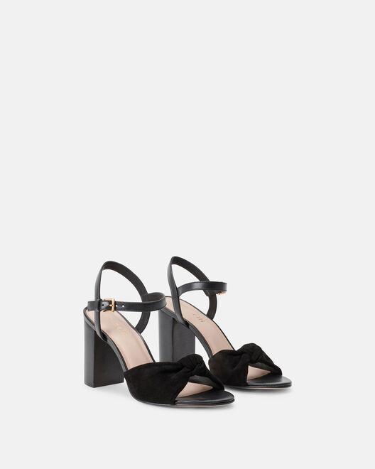 Sandale à talon - Cindra, NOIR