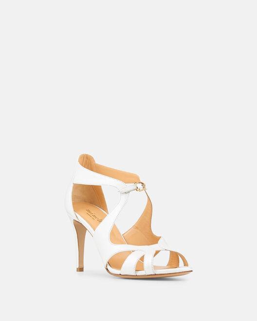 Sandale à talon - Bendte, BLANC