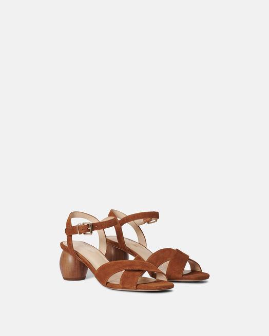 Sandale à talon - Cassianie, CUIR