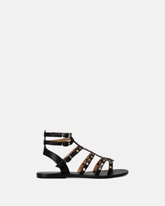 Sandale plate - Massylia, NOIR