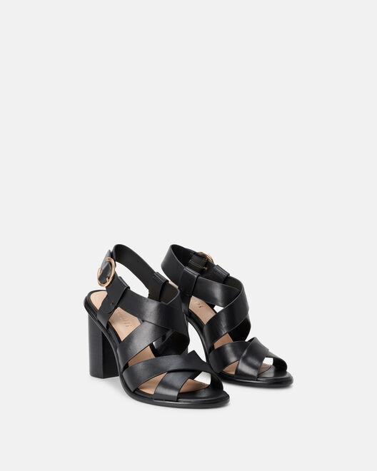 Sandale à talon - Clavie, NOIR