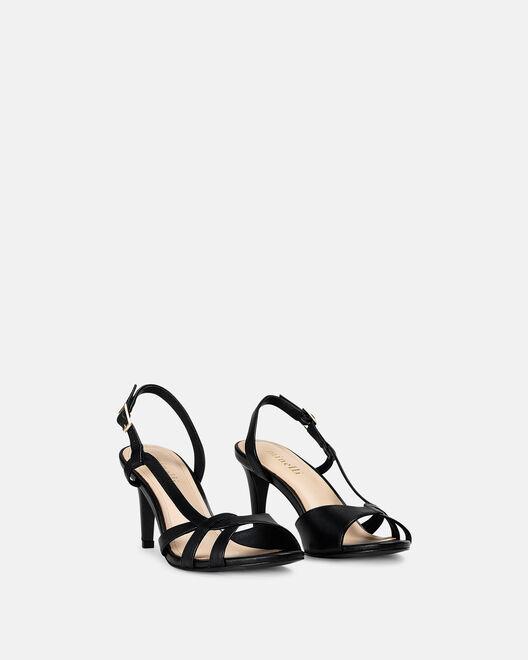 Sandale à talon - Cidema, NOIR
