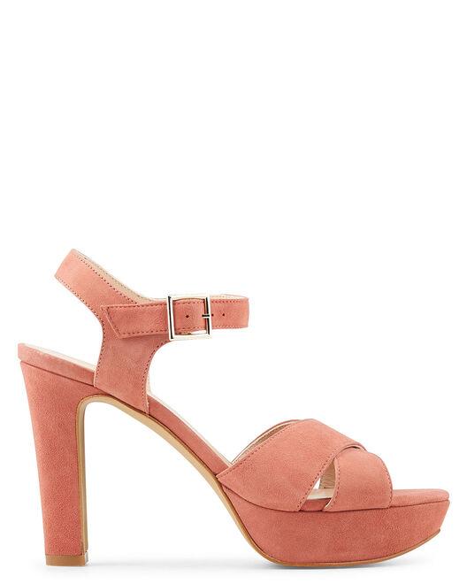 Sandale à talon - Benete, VIEUX ROSE