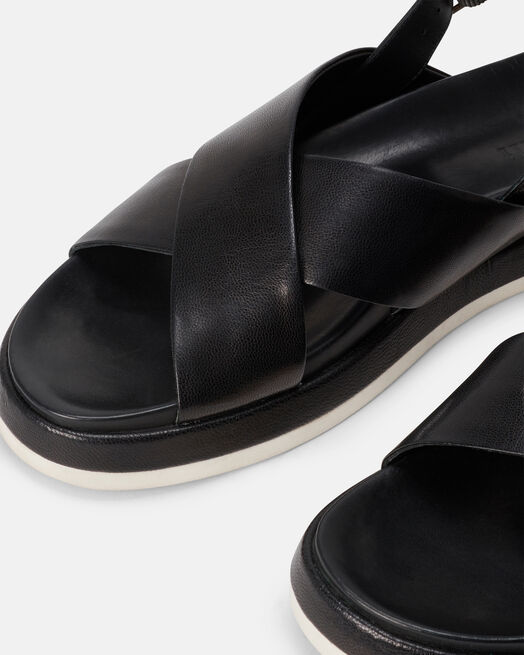 Sandale plate - Mechthil, NOIR