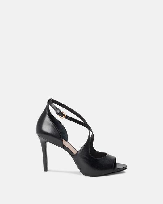 Sandale à talon - Calino, NOIR