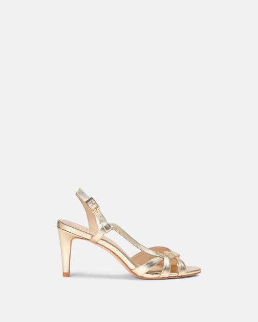Sandale à talon - Cidem, PLATINE