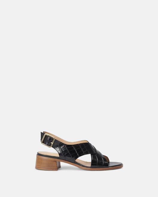 Sandale à talon - Maissane, NOIR