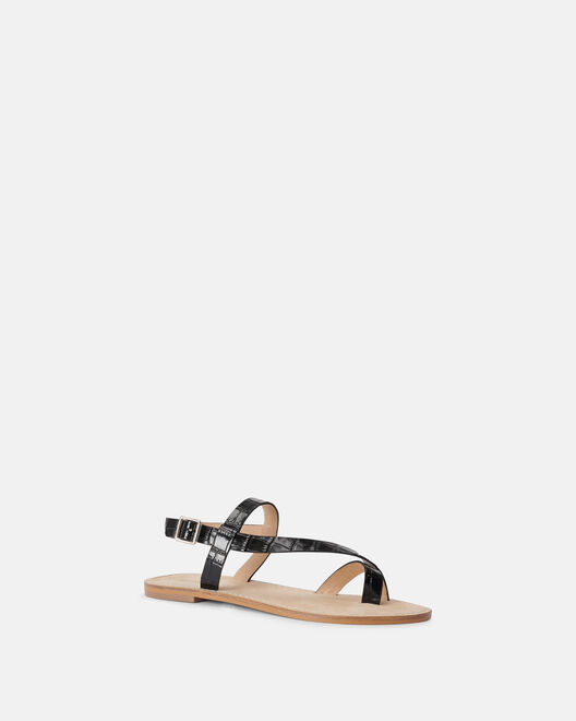 Sandale plate - Meryne, NOIR