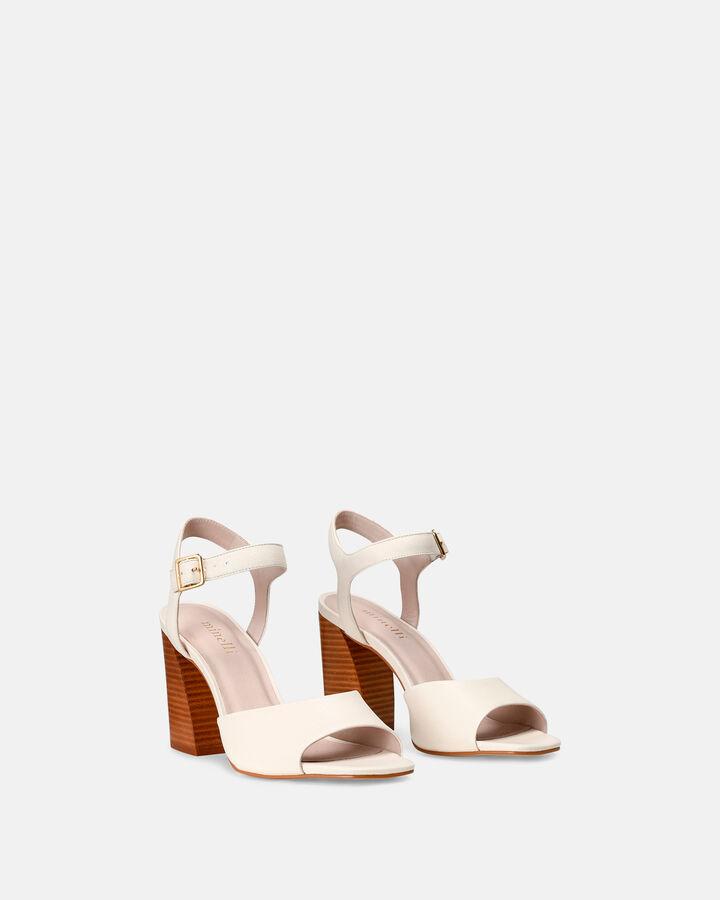 Sandale à talon - Crestini, ECRU