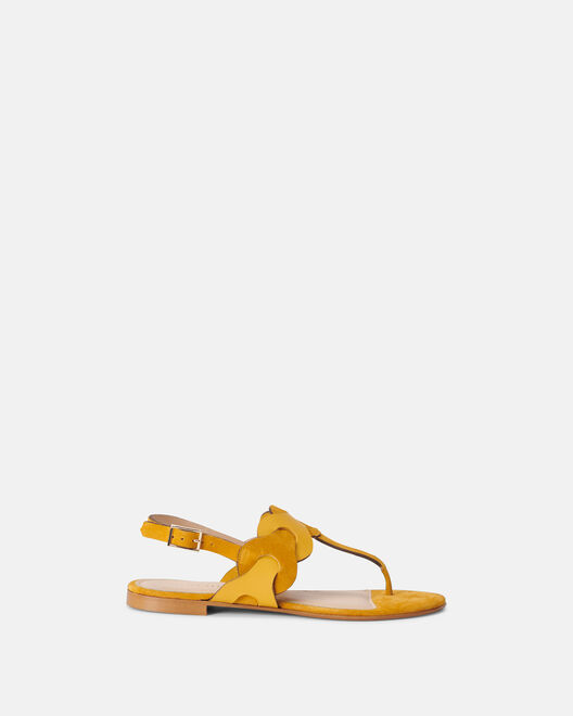 Sandale plate - Mauna, JAUNE
