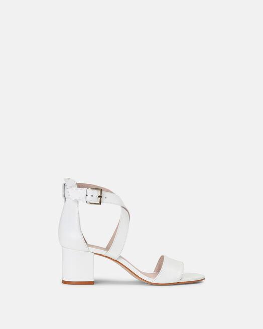Sandale à talon - Laureen, BLANC