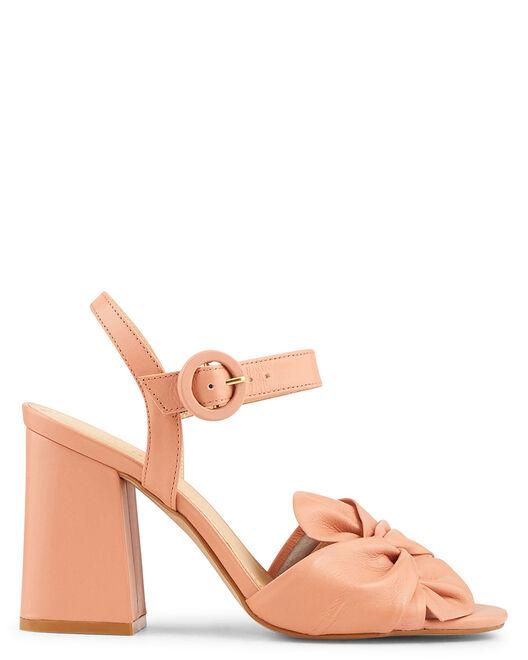 Sandale à talon - Berith, VIEUX ROSE