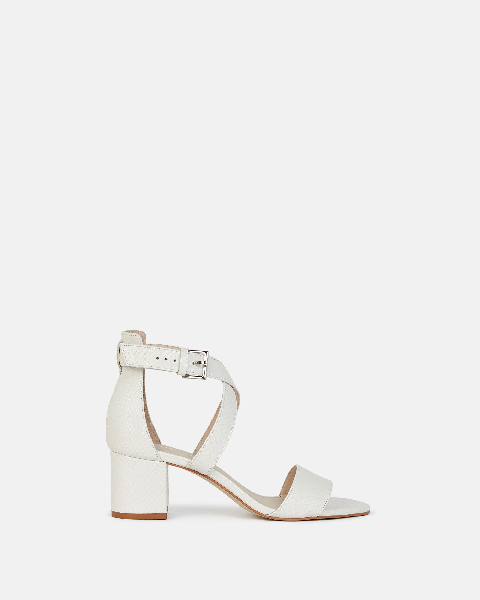 Sandale à talon pour femme Minelli Ecru