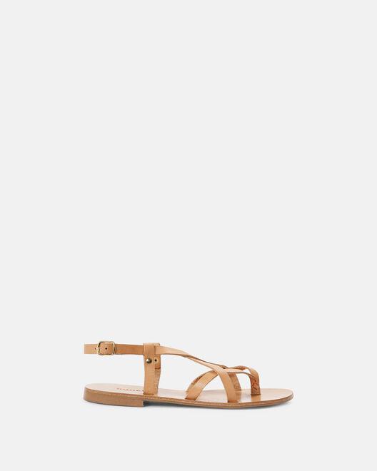 Sandale plate - Mimona, NATUREL