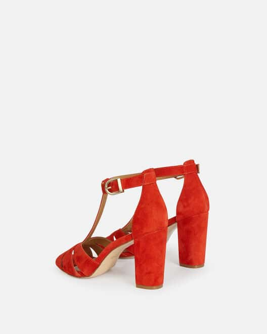 Sandale à talon - Thomacine, COQUELICOT