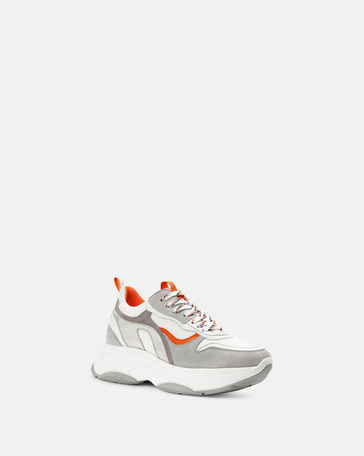 Sneaker - Bayale, BLANC ORANGE