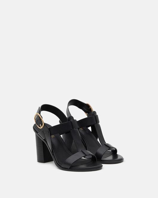 Sandale à talon - Thoraya, NOIR
