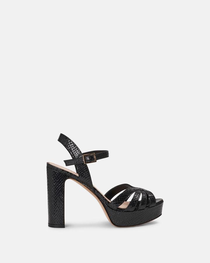 Sandale à talon - Carmelita, NOIR