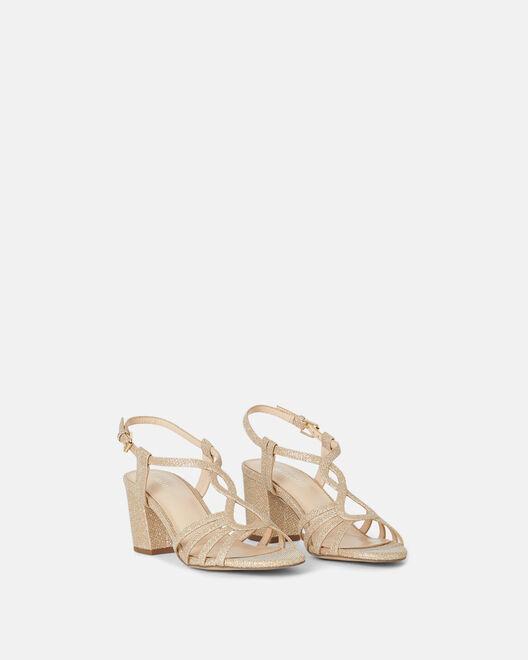 Sandale à talon - Cihama, PLATINE