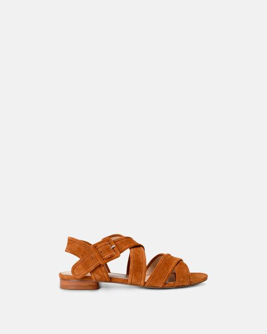 Sandale plate - Mongia, CUIR