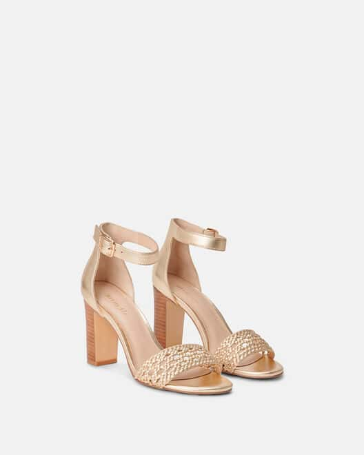 Sandale à talon - Clovicia, PLATINE