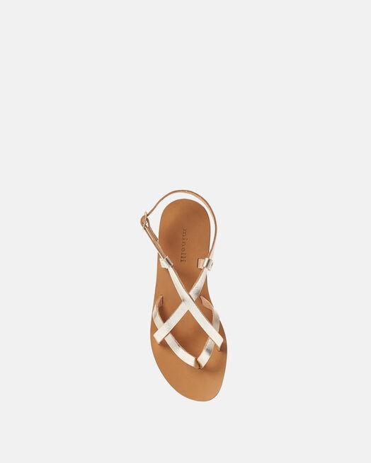 Sandale plate - Mimone, PLATINE