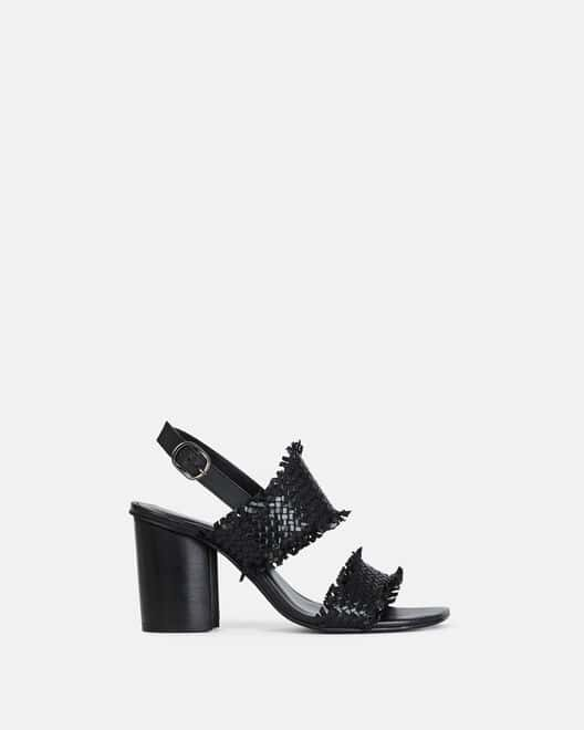 Sandale à talon - Tahela, NOIR