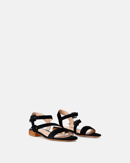 Sandale plate - Valeska, NOIR