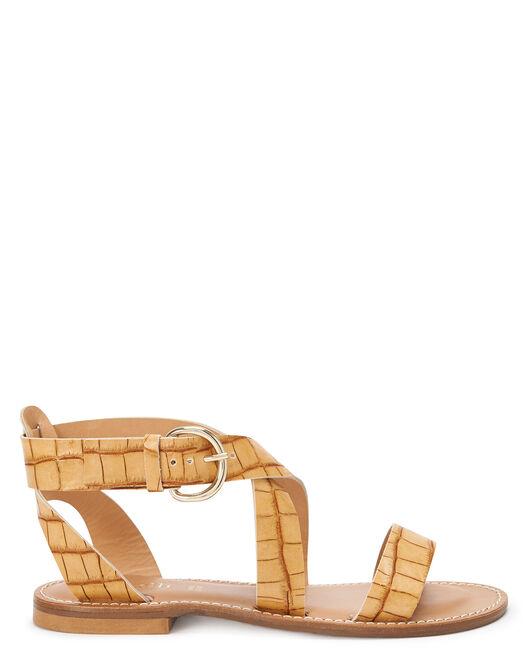 Sandale plate - Monya, NATUREL