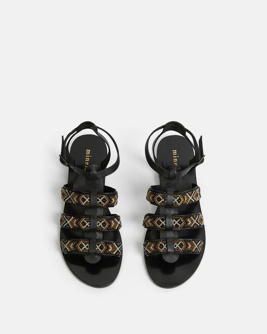 Sandale plate - Hermyna, NOIR