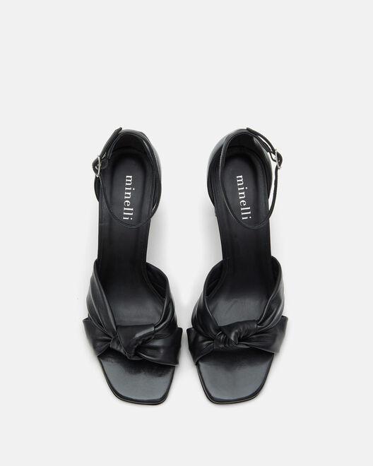 Sandale à talon - Tricya, NOIR