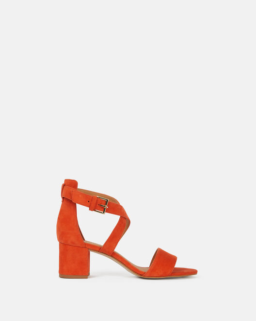 Sandale à talon - Cybil, ORANGE