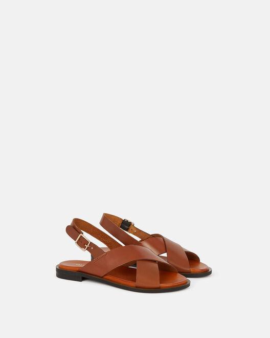 Sandale plate - Dona, CUIR