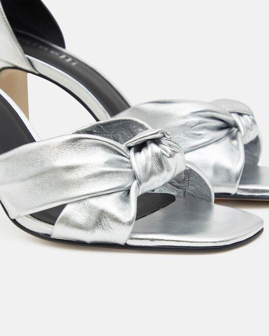 Sandale à talon - Trephinne, ARGENT