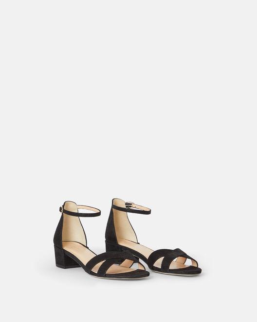 Sandale plate - Miliva, NOIR