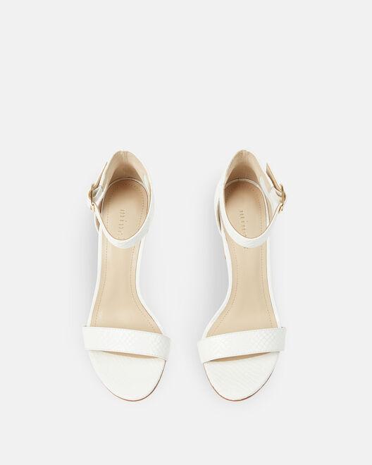Sandale à talon - Chelye, BLANC